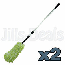 2x TELESCOPIC DUSTERS HOME OFFICE COBWEB BRUSH LONG HANDLE HIGH REACH DUSTER