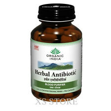 Organic India Herbal Antibiotic Protect Bacterial Viral Infection Cold 60 Caps