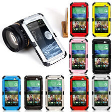 New Waterproof Shockproof Gorilla Glass Cover Aluminum Metal Case For HTC ONE M8