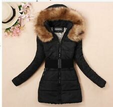 2014 Women's padded winter warm fur collar jackets coat jacket S M L XL XXL