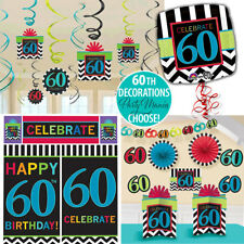 60TH 60 BIRTHDAY PARTY SUPPLIES DECORATIONS BALLOONS MILESTONE CELEBRATION