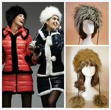 new 2017 Womens Ladies fahion Faux Fur Russian Hat Animal Winter Warm Hats