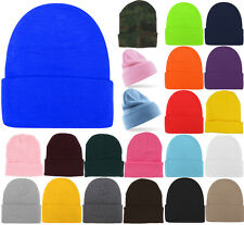 Plain Beanie Hats Winter Cap Slouchy Hat Knit Winter Custom Men Girls 45 COLORS