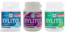 3 Boxes LOTTE Xylitol Chewing Gum Sugar - free 58g.