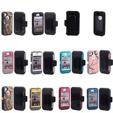For Apple iPhone 4 4S Defender Case With Build in screen protector w/Belt Clip