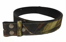 Snap On Camouflage Mossy Oaks Print PU  Leather Belt Strap wholesale NC87