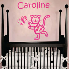 Cat In A Dress Personalized Vinyl Decal Wall Decor Art Sticker