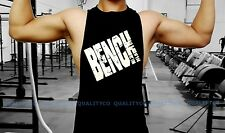 Men's BENCH Black Workout Vest Tank Top bodybuilding gym muscle mma fitness