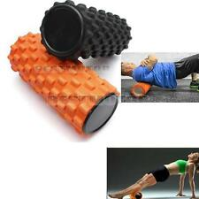 32x12cm EVA Grid Foam Roller Pilates Yoga Physio Gym Back Massage Orange/Black