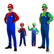 Men And Women Adult Super Mario AND Luigi Workmen Couples Costumes Outfits