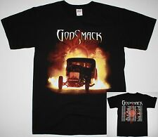 GODSMACK 1000HP TOUR TEE 2014 DATES ALTERNATIVE SULLY ERNA NEW BLACK T-SHIRT