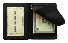 New Mens Front Pocket Leather Money Clip Wallet with ID Window Made in the USA