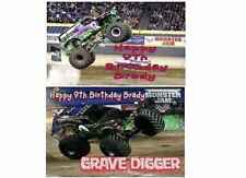 EDIBLE CAKE IMAGE  GRAVE DIGGER  MONSTER TRUCK BIRTHDAY PARTY ICING SHEET TOPPER