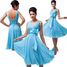 GK Short Flowered Bridesmaid Prom Homecoming Evening Cocktail Party Queen Dress