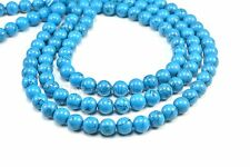 howlite turquoise, round,4-16mm,jewelry supply,blue stone bead