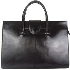 GENUINE LEATHER BRIEFCASE OFFICE STYLE BAG NEW FROM ITALY