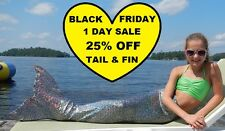 FANTASY FIN SWIMMABLE KID'S MERMAID TAIL with MONOFIN - SPARKLE SILVER GATOR