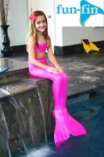 FUN-FIN SWIMMABLE KID'S MERMAID TAIL with MONOFIN  - JAZZY PINK