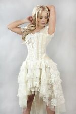 New Vintage Victorian Gothic Steampunk Evening Corset Burleska Dress Size 8 -18