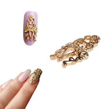 10pcs 3D DIY Alloy Gold Silver Hollow Out Nail Art Stickers Slices Decoration