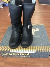 "Georgia Men's 11"" Safety Toe Engineer Boots Stay 798 NOS"
