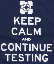 Portal 2 Keep Calm and Continue Testing Premium Tee NEW Video Game Clothing