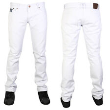 CLEARANCE MENS WHITE FORGE BY KAM F102 DESIGNER SKINNY FIT DENIM JEANS ALL