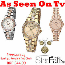 Sekonda Ladies Starfall Stone Set Analogue Bracelet Watch As Seen On TV