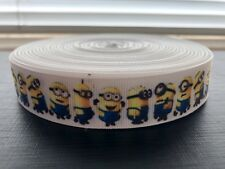 """Despicable Me Minions 22mm 7/8"""" Printed Grosgrain Ribbon, Craft Cake Bows"""