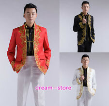 New Mens Royal Baroque Party Tuxedo SUIT Chinese Style Coat Jacket Dress