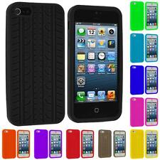 For iPhone 5 5G 5S Tire Treads Color Silicone Rubber Skin Case Cover