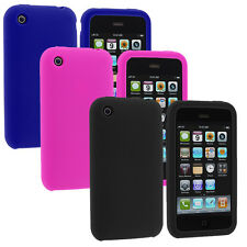 Silicone Soft Color Gel Case Cover Accessory for Apple iPhone 3G 3GS