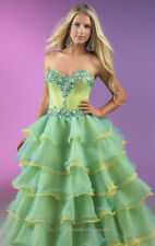 Lovely Beaded Sweetheart Evening Dresses Quinceanera Pageant Prom Custom Size