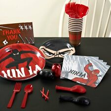 NINJA WARRIOR SWORD FIGHTING BIRTHDAY PARTY DECORATIONS TABLEWARE PLATES NEW
