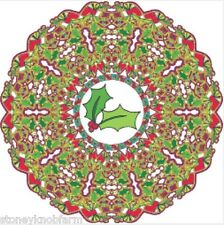 Abstract Christmas Wreath ~ Counted Cross Stitch Pattern