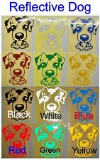 1x Reflective Dog - Glossy Stickers For Car or Home Decal  #A