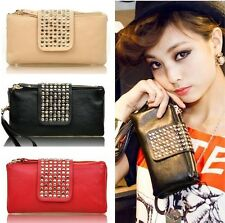 2014 Hot Women Card Coin holder ZIP Wallet Leather Soft Clutch Purse Handbag Bag