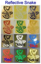 Reflective Snake - Glossy Stickers For Car or Home Decal - Single or Twin