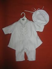 Baby Boy Christening Baptism white Suit/ 3 pieces Outfit/ Sizes: XS to XL