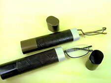 2 Pairs Magnivision by Foster Grant Tube Reading Glasses Readers Spring Hinges