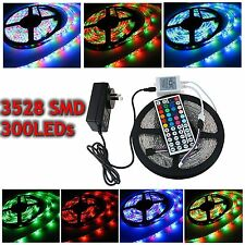 5M/10M/15M 3528 RGB LED Strip Light lámpara Waterproof + 24/44Key IR + 2A Power
