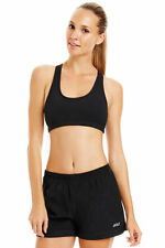 Lorna Jane Comfort Sports Bra Crop Running Gym Yoga Workout Top Black XS S M L