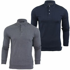 Mens Polo T Shirt French Connection/ FCUK Long Sleeved Sneezy Jersey