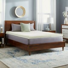 """NEW! 4"""" TEXTURED SCULPTED ULTIMATE COMFORT MEMORY FOAM  BED MATTRESS PAD TOPPER"""