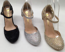 NEW Chase & Chloe Cody PROM WEDDING HOMECOMING GLITTER RHINESTONE pumps shoes