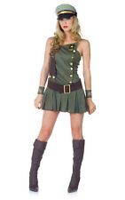 ADULT WOMENS U.S ARMY SEXY MILITARY UNIFORM FANCY DRESS HALLOWEEN COSTUME