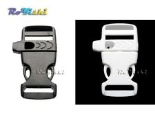 3/4''Emergency Survival Side Release Whistle Buckles For Paracord Bracelet