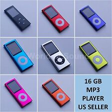 "New 16GB Slim Mp3 Mp4 Player With 1.8"" LCD Screen FM Radio, Video, Games & Movie"
