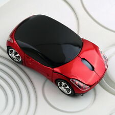 1000DPI Wireless Blue Car Optical Mouse +USB receiver for Laptop Computer HC