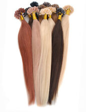 "16"" - 24"" Fusion U/Nail Keratin Tip Remy Human Hair Extensions Multiple Colors"